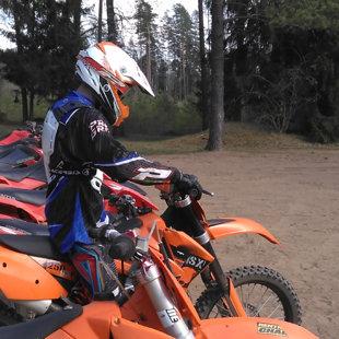 KTM krosa motociklu noma
