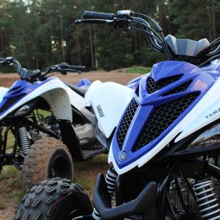 Yamaha YFM90R quad rides Latvia